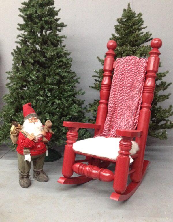 Chaise berçante de Noël