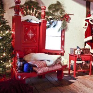 Trône et décors de Noël