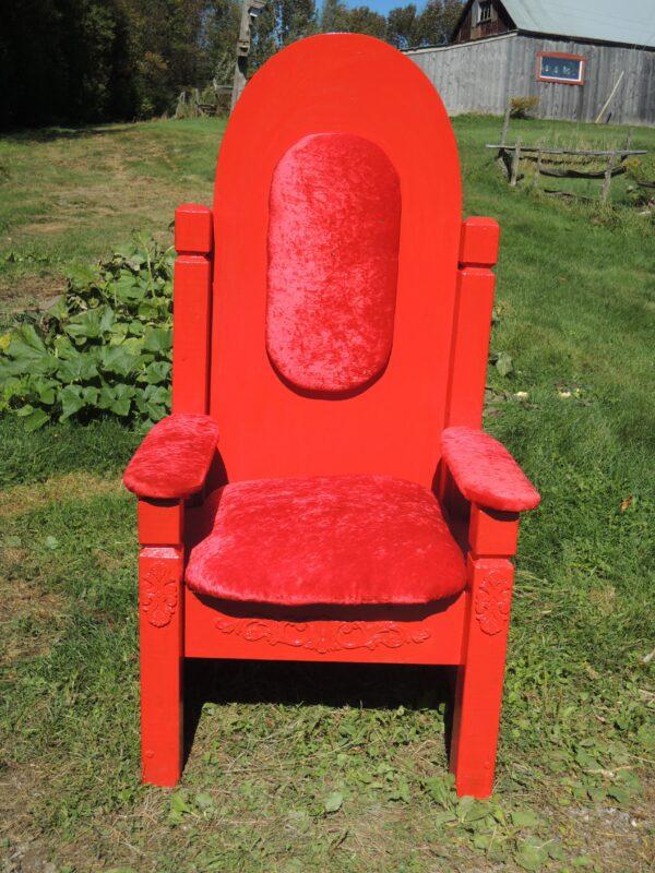 Chaise du Père Noël (toute rouge)