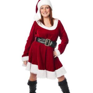 Mère Noël à robe courte