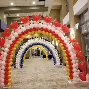 Arche de ballons (photo à titre d'exemple)