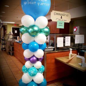 colonnes de ballons (photos à titre d'exemple)